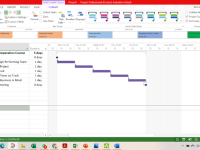 Microsoft Project for Managing Project